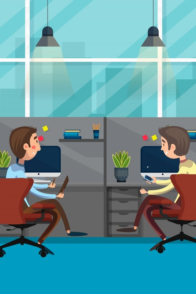 business office workplace office worker, Jobs, Conversation, To Chat With illustration image