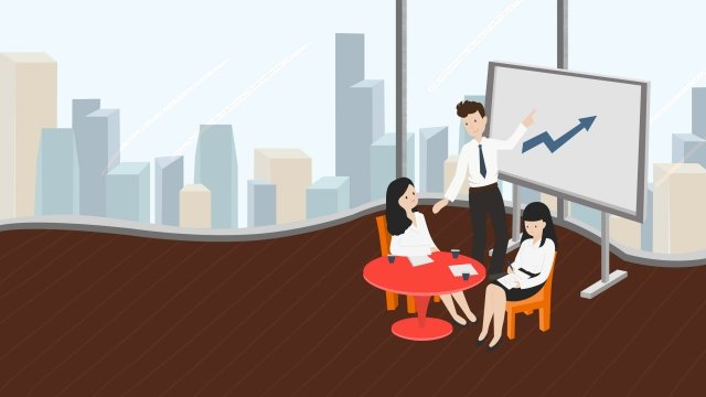 business team cooperation meeting, Discuss, Meeting, Teamwork illustration image