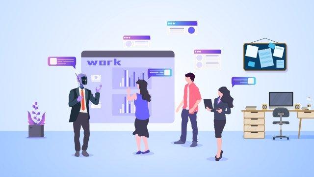 ビジネス技術職場データ イラストレーション画像 イラスト画像