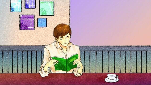 카페 작은 가게 아름다운 커피 삽화 소재 삽화 이미지