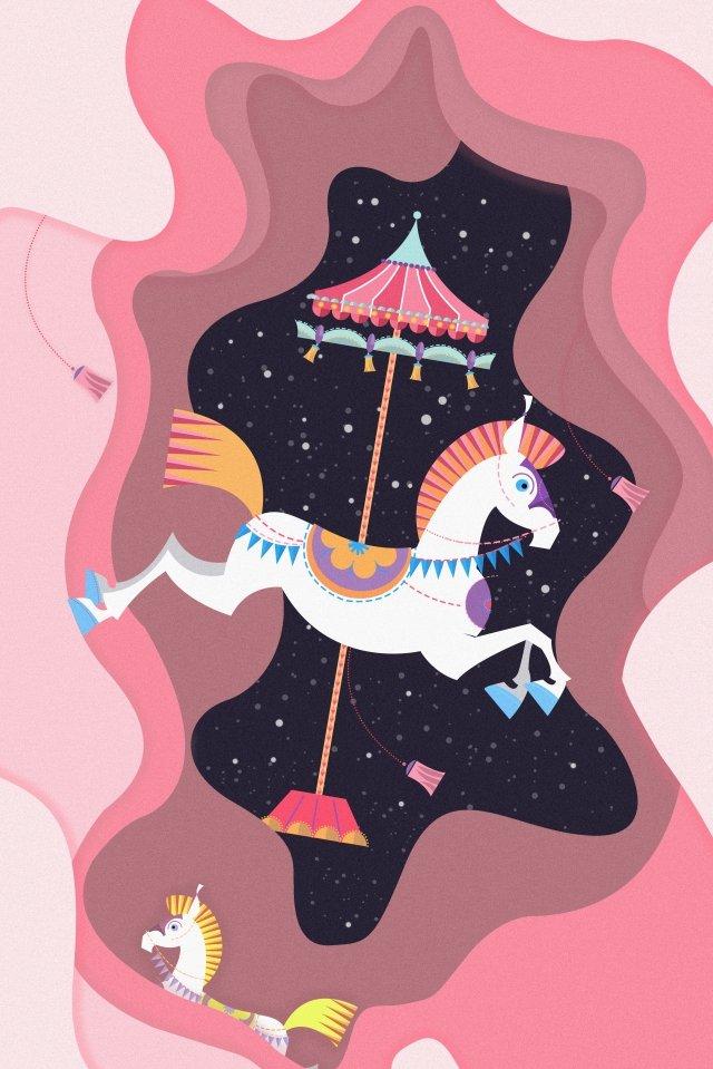 card holiday amusement park play llustration image illustration image