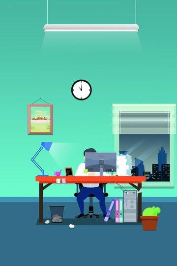 career character industry overtime llustration image illustration image