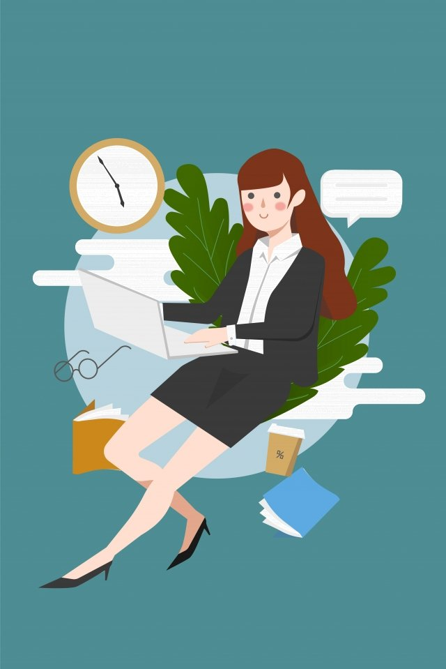 career female jobs white collar llustration image