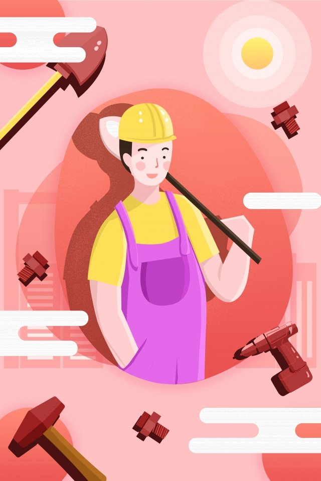 career industry jobs character illustration image