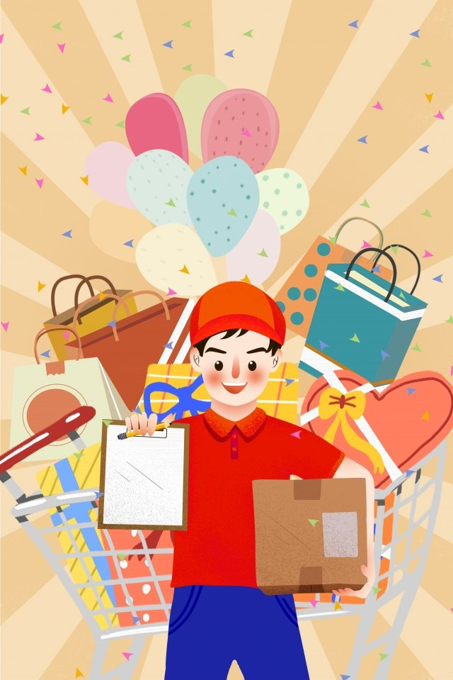 carnival express delivery delivery illustration, Carnival, Express Delivery, Delivery illustration image