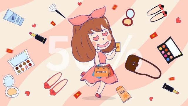 carnival girl cosmetic skin care products llustration image illustration image
