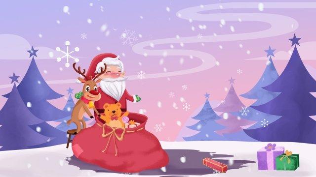 الكرتون عيد الميلاد سانتا كلوز الرنة مواد الصور المدرجة الصور المدرجة