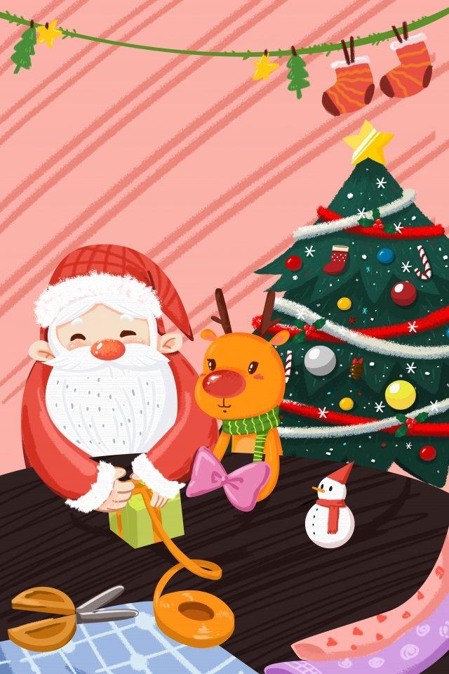 الكرتون عيد الميلاد سانتا كلوز الرنة الصور المدرجة