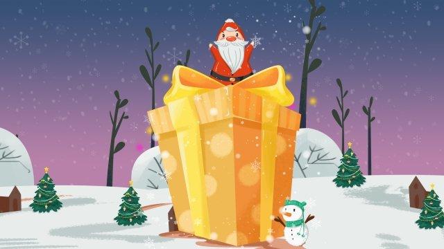 الكرتون عيد الميلاد سانتا كلوز ثلج مواد الصور المدرجة