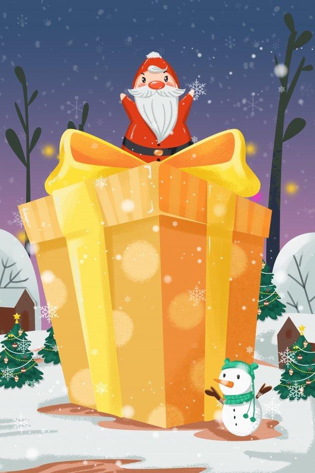 мультфильм рождество санта клаус снеговик Ресурсы иллюстрации