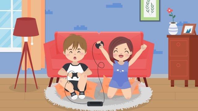 만화 커플 사랑 일일 삽화 소재