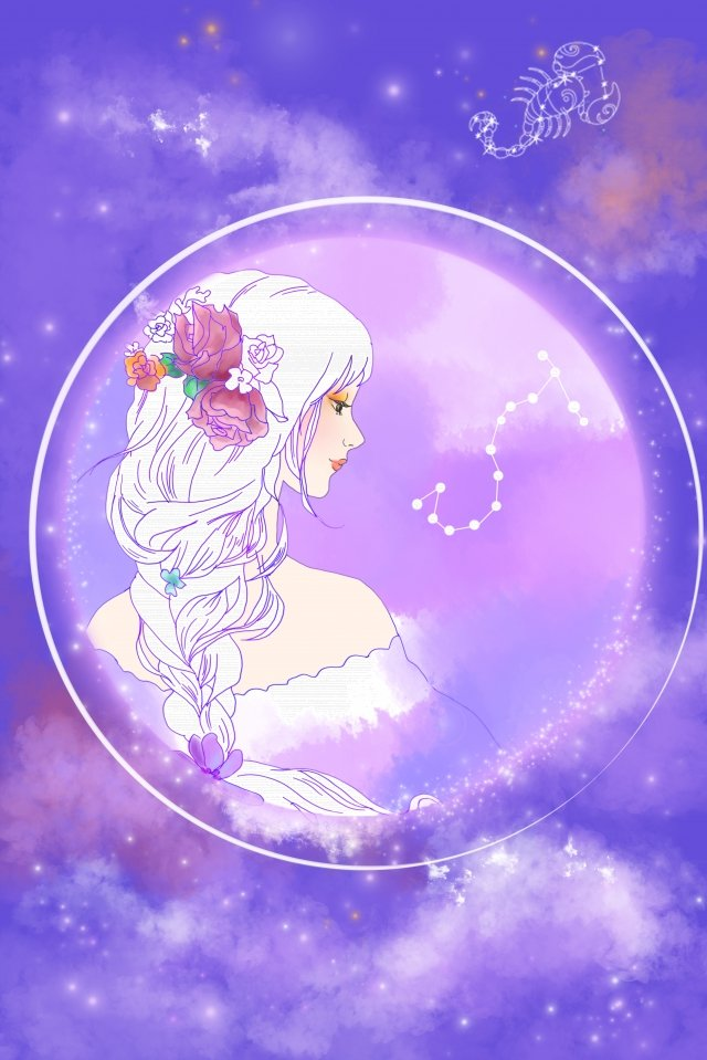 cartoon hand painted twelve constellations beauty llustration image