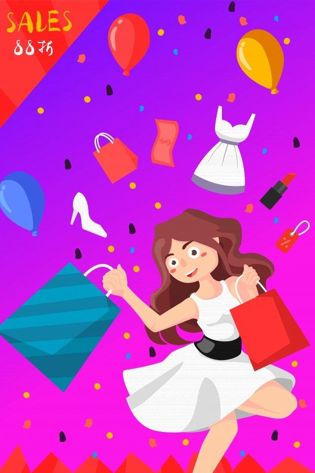 cartoon illustration buy buy buy pickpocket, Female, Cartoon, Illustration illustration image
