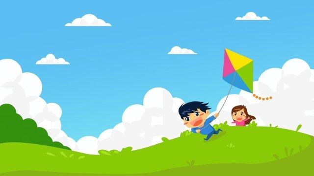 festival de dia dos desenhos animados seis crianças um Material de ilustração Imagens de ilustração