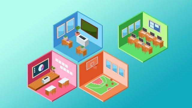 cartoon technology illustration intelligent, Rubiks Cube, Square, Classroom illustration image