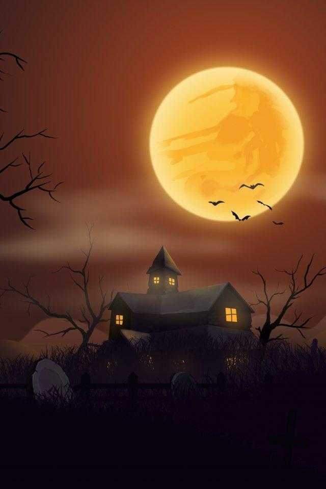 kubur halloween kegelapan batu nisan imej ilustrasi