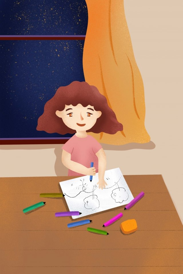 child drawing education culture llustration image