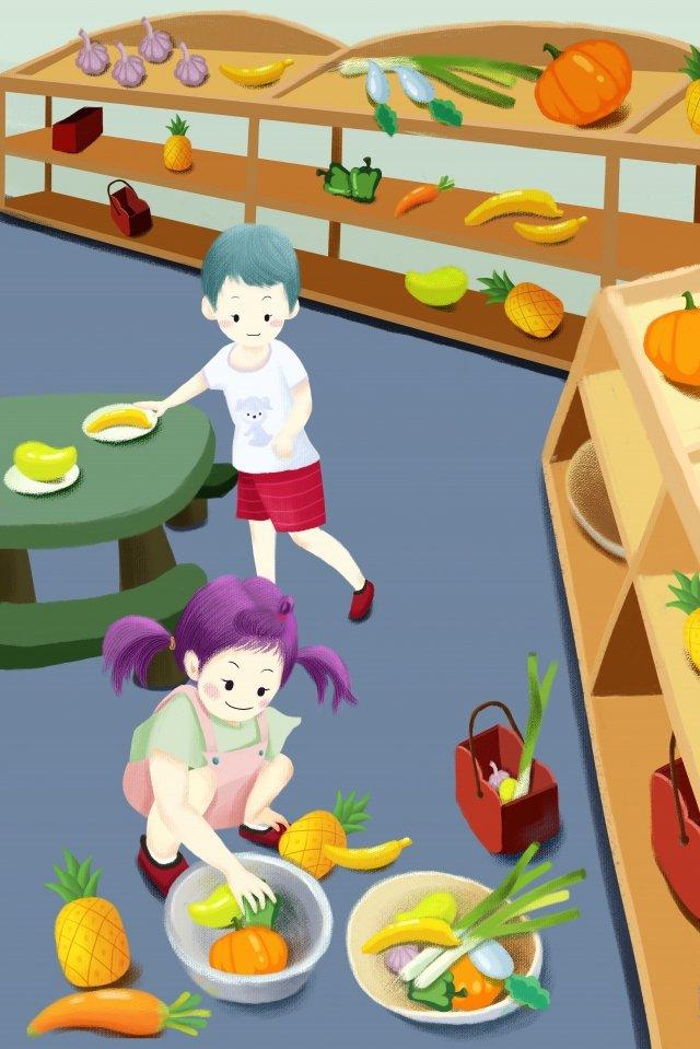 child education early education fruit llustration image