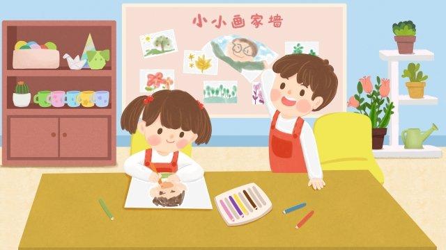 बाल शिक्षा बालवाड़ी बच्चे सीखते हैं चित्रण छवि चित्रण छवि