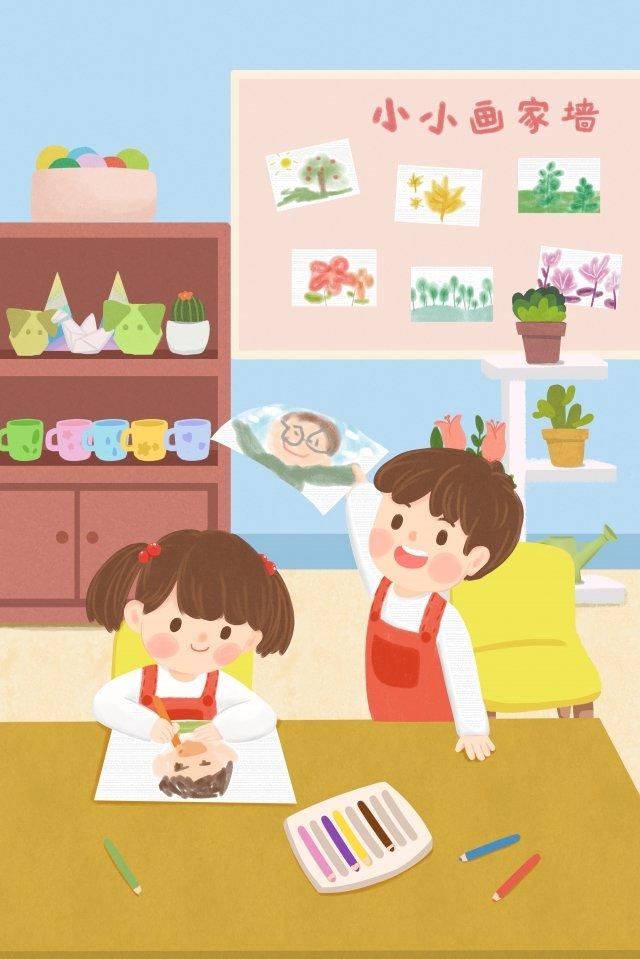 child education kindergarten child learn illustration image