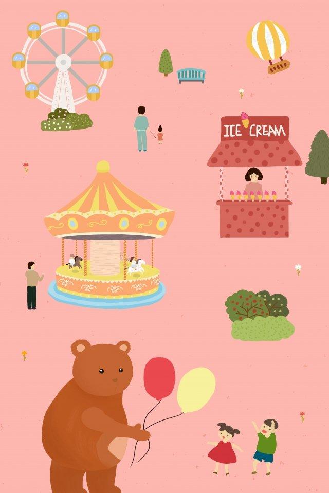 बाल स्वर्ग खेल का मैदान चित्रण छवि चित्रण छवि