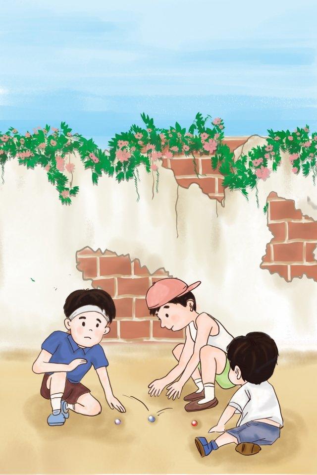 子供の日子供の頃子供の頃の記憶子供たちが遊んで イラスト画像
