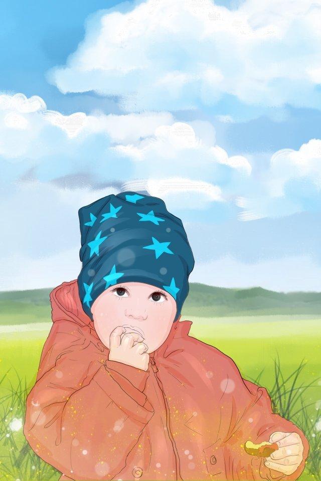子供の日食べる子供のような美しい イラストレーション画像 イラスト画像