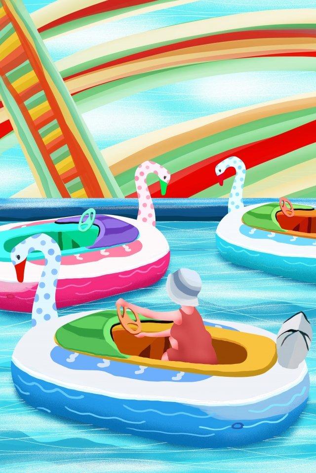 子供の遊び場遊園地子供の遊び場パラダイス イラスト素材
