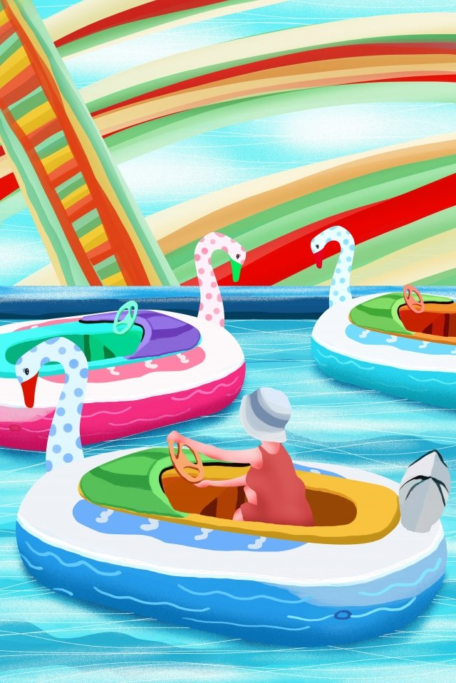 childrens playground amusement park childrens playground paradise llustration image