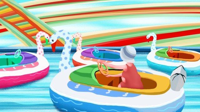 子供の遊び場遊園地子供の遊び場パラダイス イラスト素材 イラスト画像