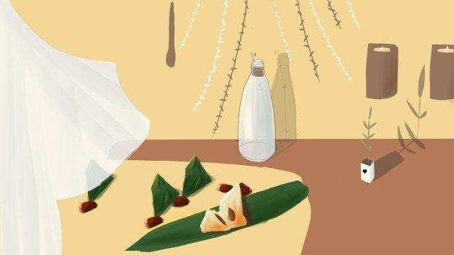 中國傳統節日龍舟節粽子 插畫素材