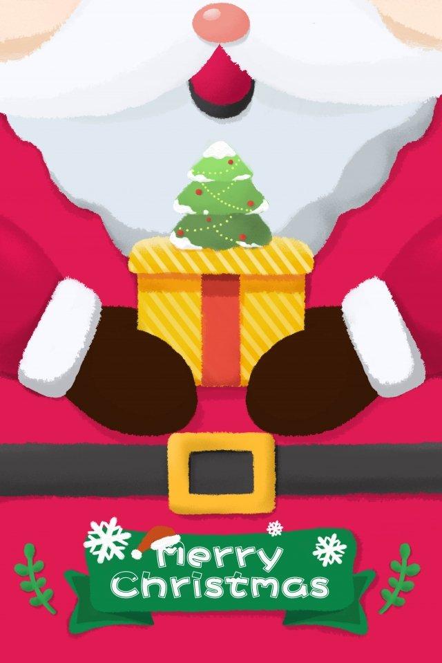 بطاقة عيد الميلاد عيد الميلاد سانتا كلوز صورة llustration