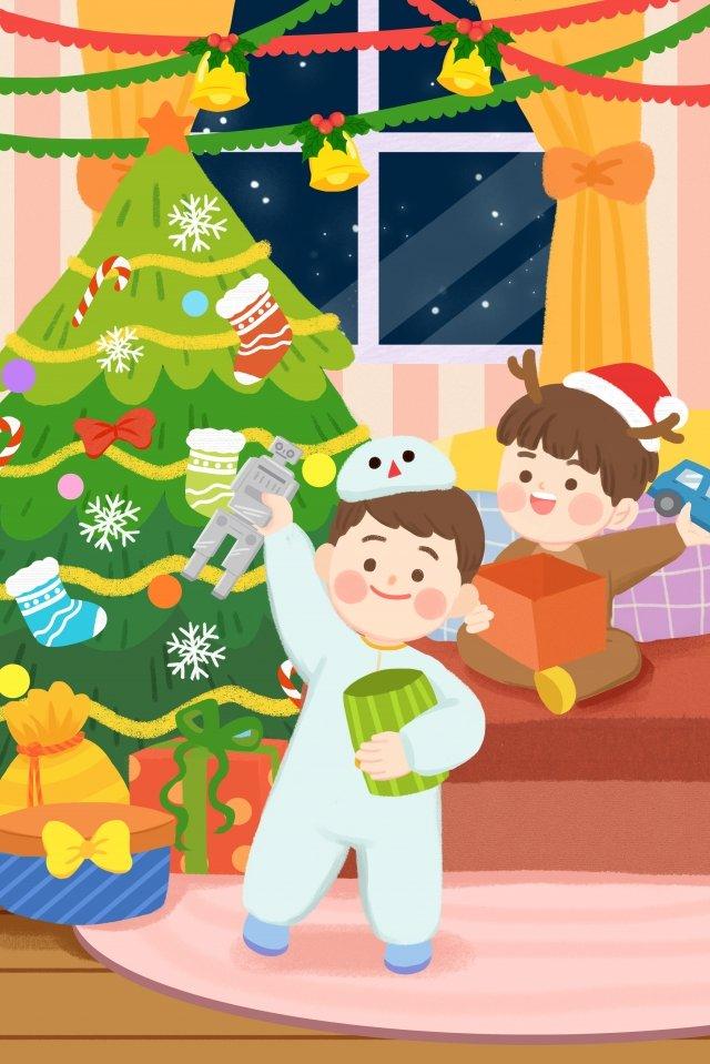 크리스마스 크리스마스 크리스마스 이브 크리스마스 트리 삽화 이미지