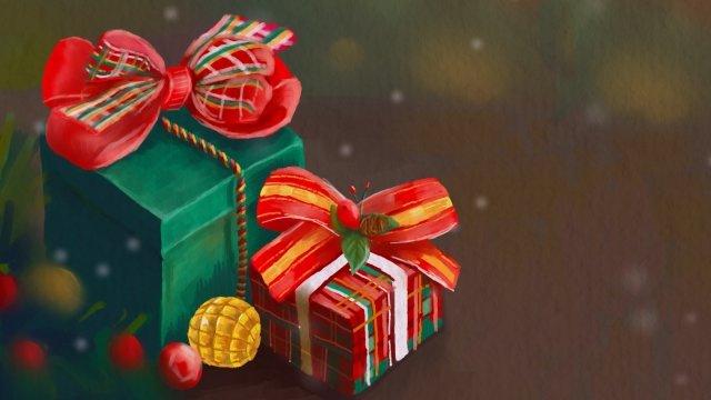 크리스마스 크리스마스 크리스마스 이브 선물 삽화 소재