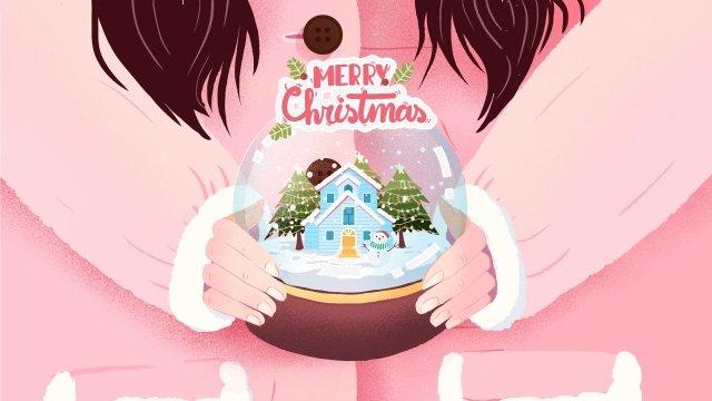 هدايا عيد الميلاد هدايا عيد الميلاد كرة بلورية مواد الصور المدرجة