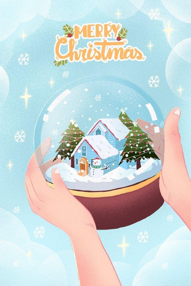 giáng sinh giáng sinh giáng sinh quà tặng quả cầu pha lê Hình minh họa Hình minh họa