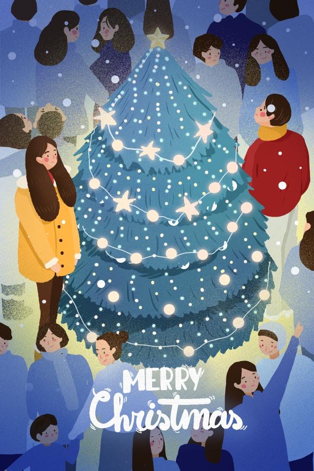 クリスマスクリスマスカップル イラスト素材