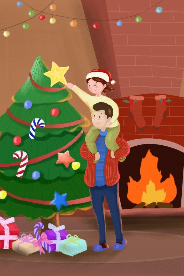 クリスマスクリスマスデコレーションクリスマスツリー イラスト素材