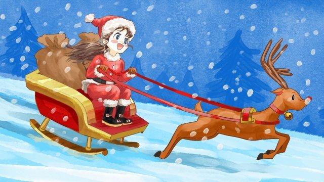 عيد الميلاد عيد الميلاد الأيائل سانتا كلوز مواد الصور المدرجة الصور المدرجة