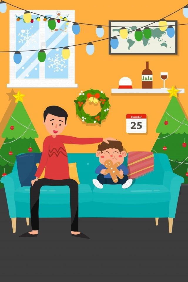 크리스마스 크리스마스 이브 크리스마스 이브 일러스트 삽화 이미지