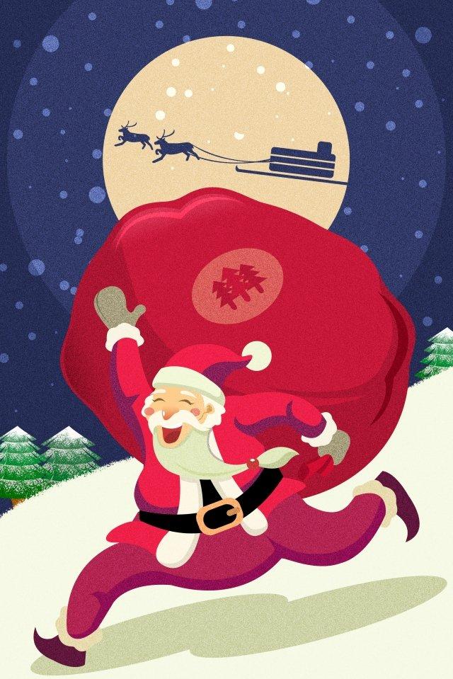 عيد الميلاد عشية عيد الميلاد سانتا كلوز إرسال هدية مواد الصور المدرجة الصور المدرجة