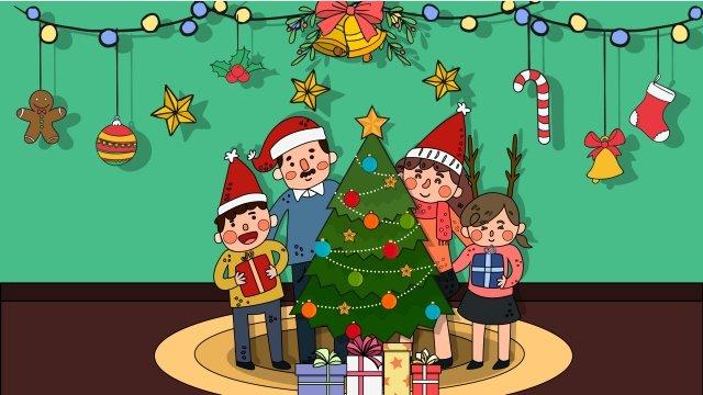 크리스마스 크리스마스 선물 크리스마스 이브 삽화 소재