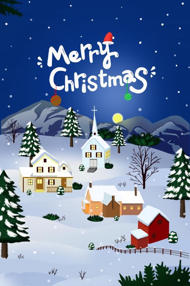 クリスマスクリスマス新年雪のシーン市建物 イラスト素材 イラスト画像