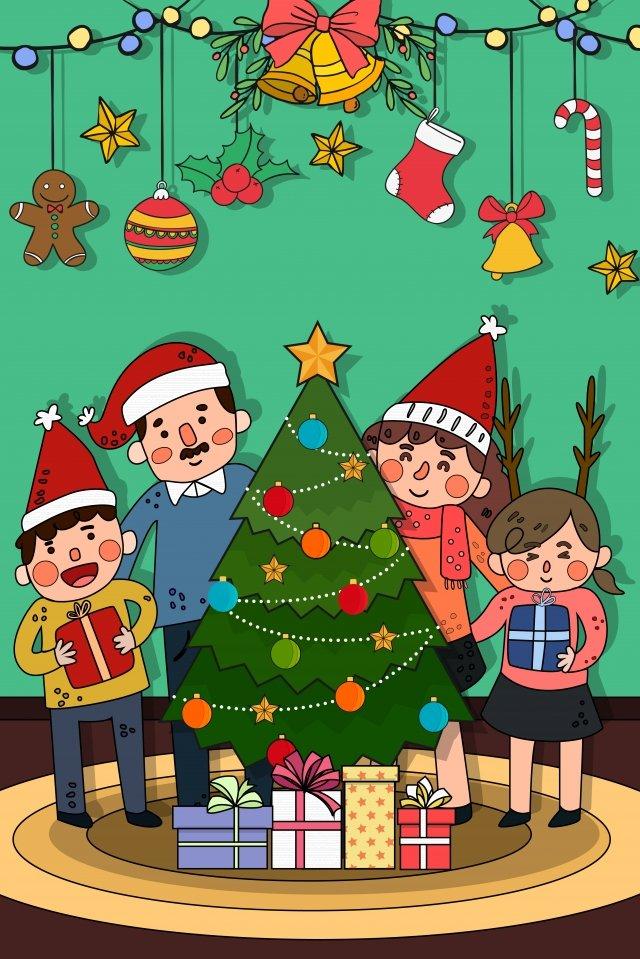 크리스마스 크리스마스 선물 크리스마스 이브 일러스트 삽화 소재 삽화 이미지