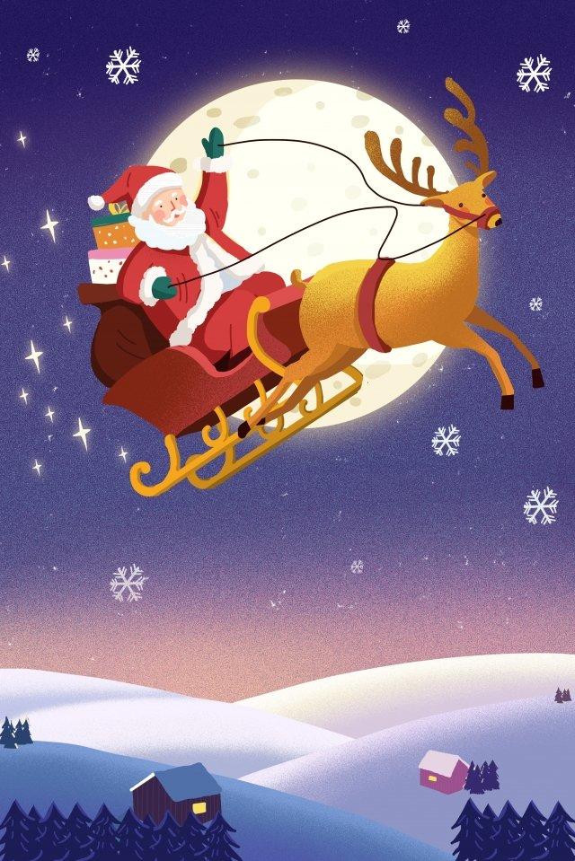 عيد الميلاد عيد الميلاد سانتا كلوز إلك مواد الصور المدرجة