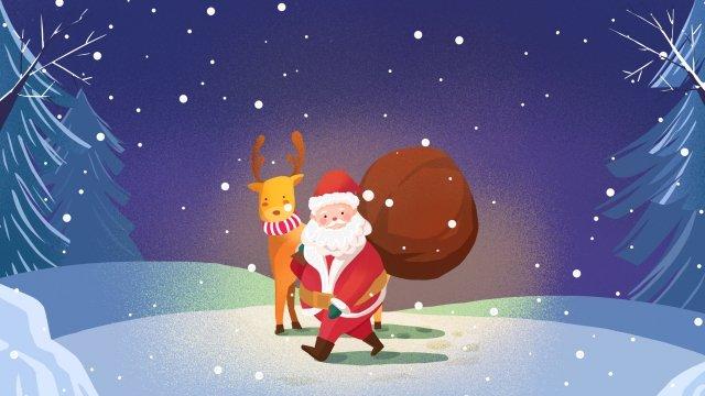 عيد الميلاد عيد الميلاد سانتا كلوز الرنة مواد الصور المدرجة