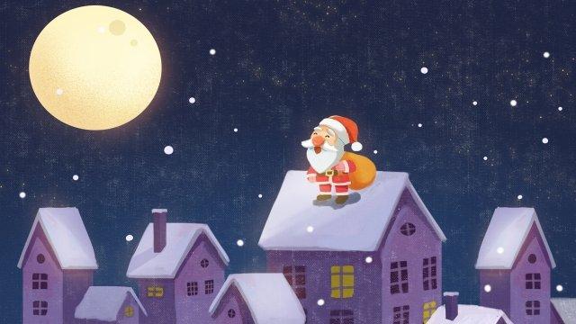عيد الميلاد عيد الميلاد سانتا كلوز إرسال هدية مواد الصور المدرجة