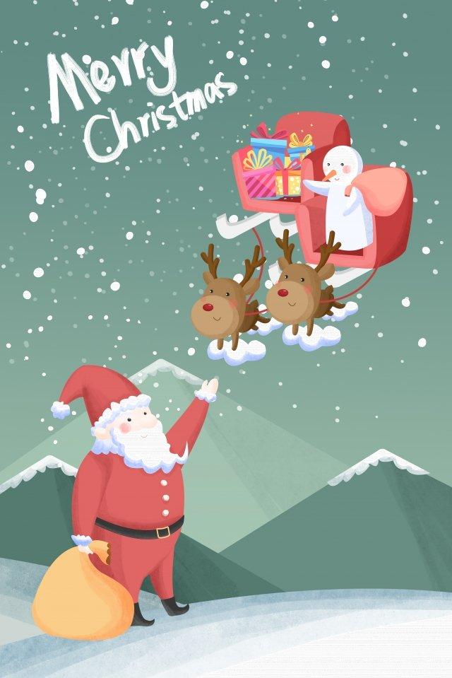 рождество рождество санта клаус снеговик Ресурсы иллюстрации