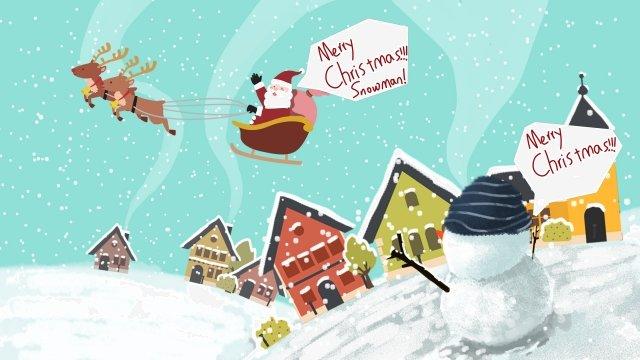 عيد الميلاد عيد الميلاد ثلج سانتا كلوز مواد الصور المدرجة