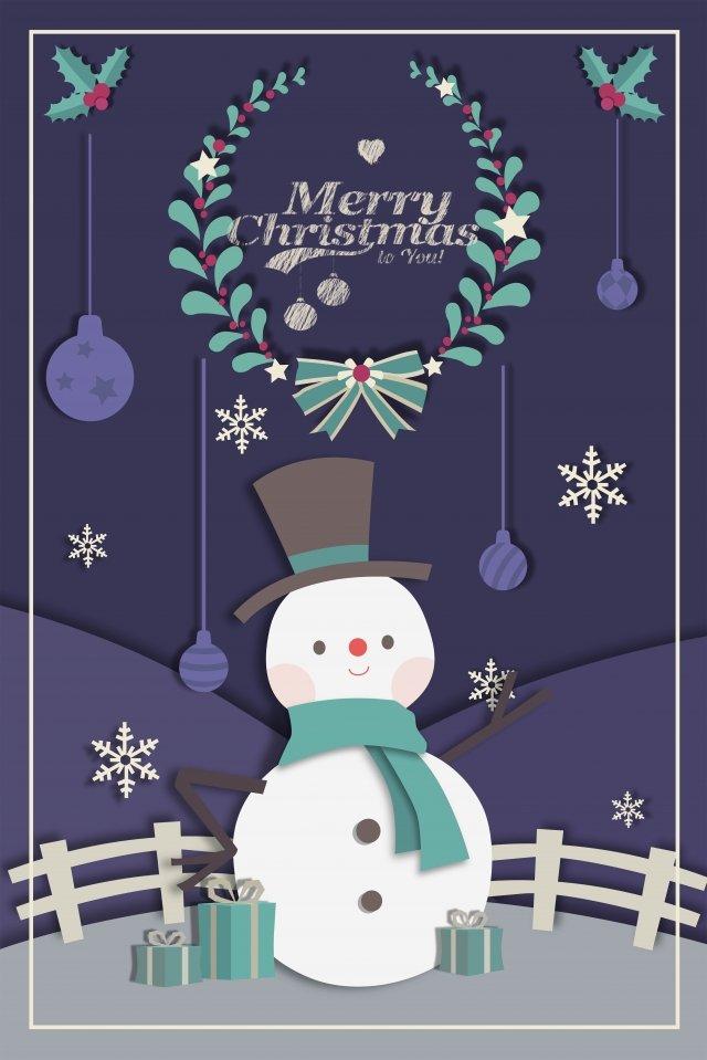 クリスマスクリスマス雪だるま冬 イラスト画像